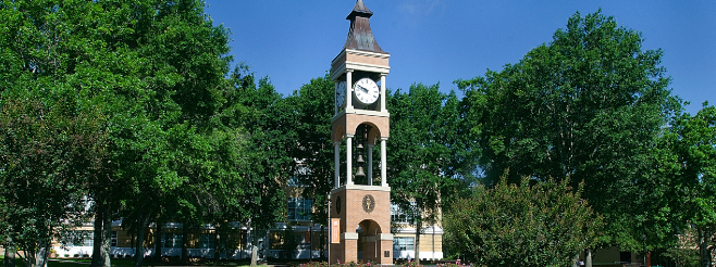 Clocktower on SHSU campus